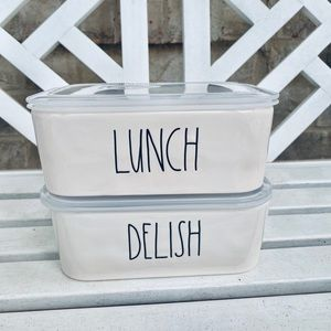 rae dunn 2 food containers